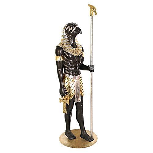 Design Toscano Die Große ägyptische Herrscher-Sammlung: Horus-Statue in Lebensgröße