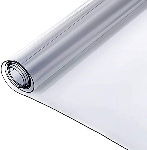 Plastic doorzichtige tafelkleed Bureauhoesbeschermer Waterbestendig Heavy Duty PVC-beschermer Eindtafel Nachtkastje Dressoir Bureaubeschermer (Color : Thickness 1.5mm, Size : 45 * 110cm)