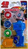 VAIDUE 4 in 1 Beyblades Metal Fighter Fury with Fight Ring Handle Launcher 4D Fusion Indoor Outdoor...