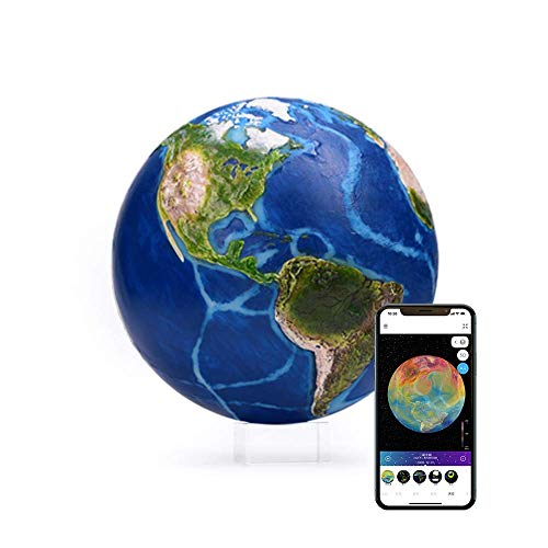 """AstroReality: EARTH Pro Smart Globe, Interactive Augmented Reality Experience, 3D Printed and Hand Painted Planet Model, NASA Sourced Extreme Precision Topography, 4.72"""", Stunning Decor Piece for Home"""