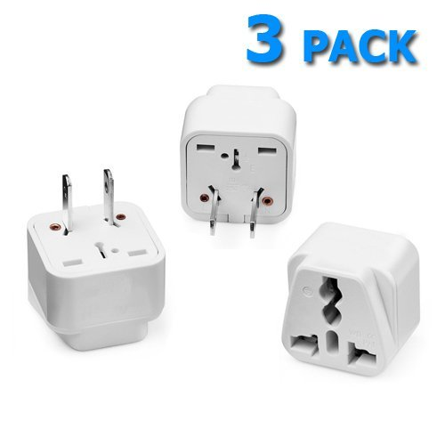 Career Cote Travel Plug Adapter Grounded Universal Plug Adapter for Japan