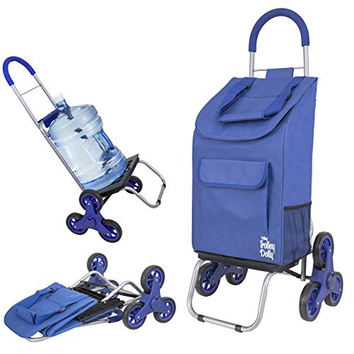 dbest products Stair Climber Trolley Dolly storage carts, 17.25' x 15.25' x 39.5', Blue