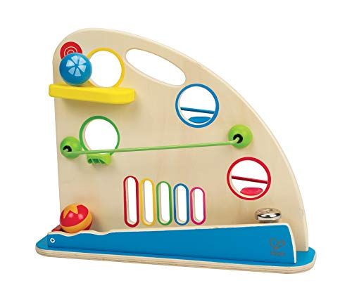 Award Winning Hape Totally Amazing Roller Derby Wooden Marble Racing Toddler Toy Multicolor, L: 16.5, W: 3.9, H: 13 inch