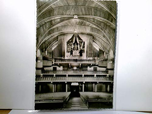 Dreifaltigkeits - Reformationskirche zu Worms am Rhein. Alte AK s/w. Orgelempore mit Natursteinmosaik von Walter Eglin, Kirchen - Innenansicht
