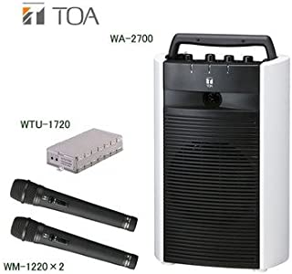 TOA デジタルワイヤレスアンプ・ワイヤレスマイクセット WA-2700×1 WTU-1720×1 WM-1220×2 シングルタイプ