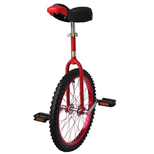 YYLL Einrad 24 Zoll Perfekt for Anfänger bis Pros, Rad Trainer mit Einrad Ständer for Radfahren Outdoor Sports Fitness Exercise (Color : Red, Size : 24inch)