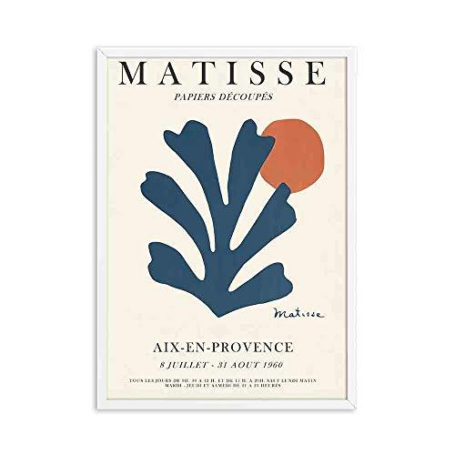 Carteles e impresiones Retro de moda de Henry Matisse línea de retrato abstracto arte de pared pintura familiar lienzo sin marco pintura A5 50x75cm