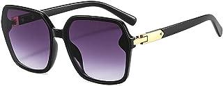 EFXGYHSAQ - Gafas De Sol Hombre Mujeres Ciclismo Gafas De Sol Cuadradas Retro Moda para Mujer Gafas Graduadas Azules Amarillas Gafas De Sol para Hombres