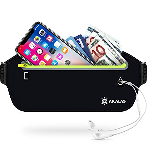 cheap Akala's ultra-thin running belt bag, lightweight and non-repulsive belt bag, waterproof …