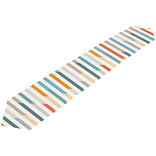 Sunnee-shop Vintage geometrische Rainbow Striped Stripes tafelloper, loper, doek