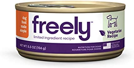 Freely Limited Ingredient Diet, Grain Free Dog Food, Natural Wet Food For Dogs, Adult Canned Dog Food Vegetarian, 5.5oz x 12 cans