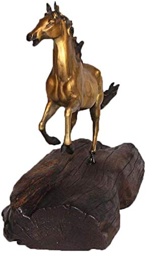 TYX Sculptures Chinese zodiac pure copper horse ornaments Gossen copper art gift office home decoration
