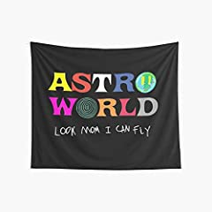 AMAZING MATERIAL: This Look Mum I Can Fly Tapestry, made of 100% polyester fabric, which is soft, durable, skin-friendly and lightweight. Suitable for any indoor or outdoor use. Fine Making: This ASTROWORLD tapestry adopts advanced HD print, crisp an...