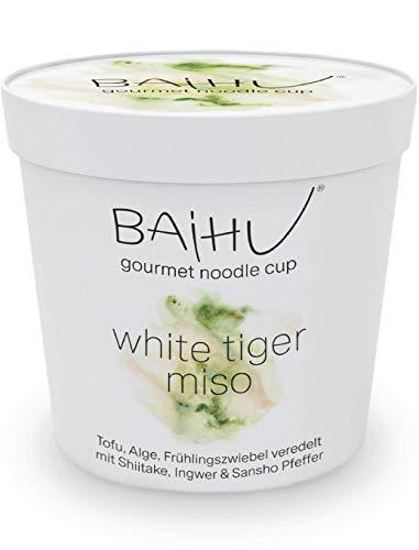 BAIHU Instant Nudeln | vegetarisch | vegan | schnelle Zubereitung (Miso Nudelsuppe, 6 Cups)