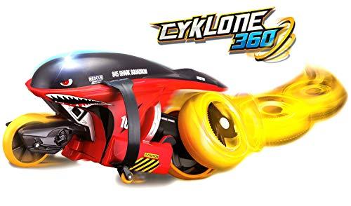 Maisto Tech R/C Cyklone 360: RC Motorrad als futuristisches Trike, mit Twist-and-Turn-Funktion und Pistolengriff-Steuerung, schwarz-rot (582066)
