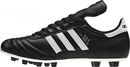adidas Copa Mundial - Zapatillas de deporte de cuero para hombre, color negro/blanco, talla 48 2/3