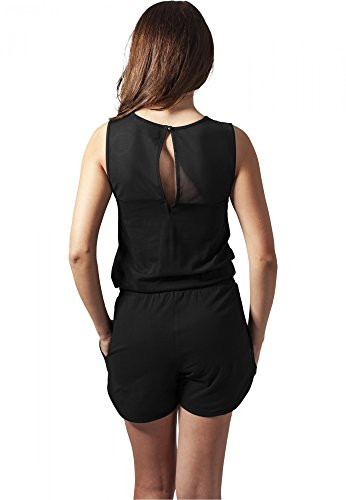 URBAN CLASSICS – Ladies Tech Mesh Hot Jumpsuit (black) - 2