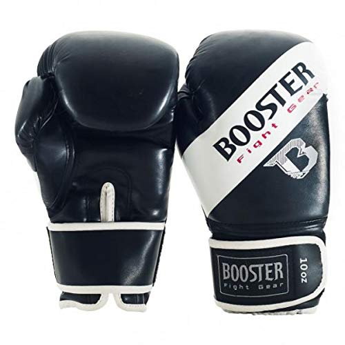 Booster Boxhandschuhe, BT-Sparring, weiß, Boxing Gloves, MMA Muay Thai Kickboxen Size 16 Oz