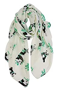 GERINLY Animal Print Scarves: Cute Pandas Pattern Women Wrap Scarf