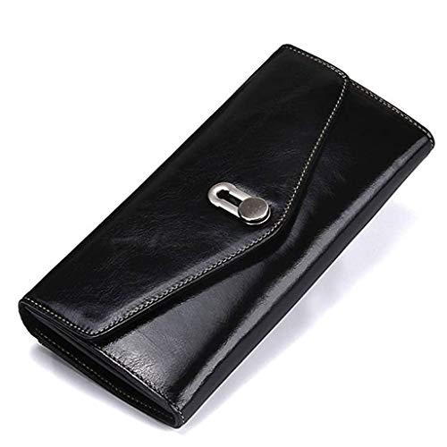 XYZMDJ portemonnee van leer, lederen muts type Long Wallet voor mannen en vrouwen algemene handtas en kaartenpakket grote capaciteits-Utility-Wallet