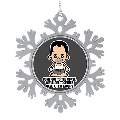 BEDKAGD LIL Die Hard John McClane Come Out to The Coast Christmas Hanging snowflake Alloy decorations,Christmas souvenirs, personalized holiday decorations.