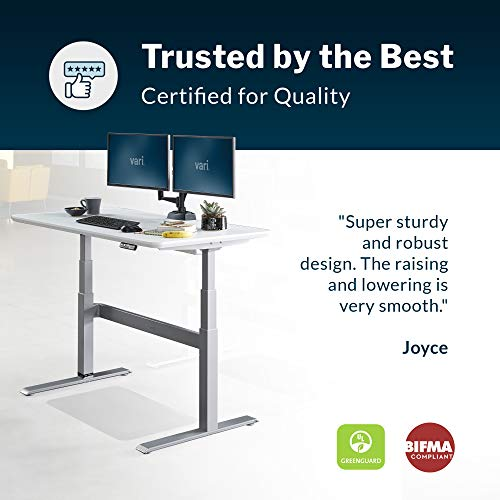 Vari Electric Standing Desk 60 - Sit to Stand Desk - 3 Button Memory...