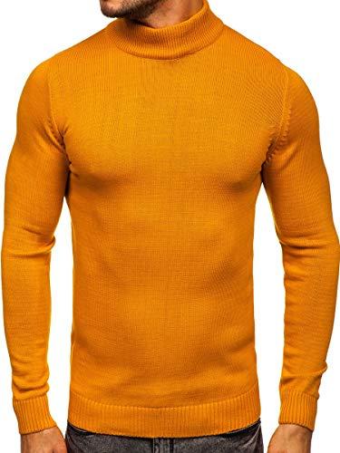 BOLF Hombre Jersey Cerrado de Cuello Alto Pulóver Sweatshirt Cazadora Ropa de...