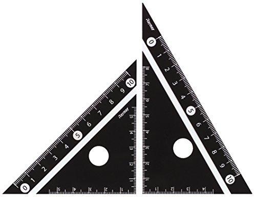 レイメイ藤井 定規 見やすい白黒 三角定規 黒 10cm APJ251B 【 3セット 】