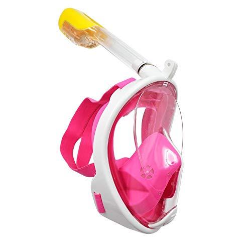 Sportbrillen Schnorchel Set for Frauen Männer Kinder Anti-Fog gehärtetes Glas Schnorchel Maske zum Schnorcheln Schwimmen Tauchen Anti Leak JFYCUICAN (Color : Rosa, Size : XS for Kids)