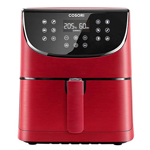 COSORI Air Fryer with 100 Recipes Cookbook,1700-Watt Max XL 5.5 L Digital Touchscreen Air Fryers Oven with 11 Presets, Oil Free Hot Cooker, Nonstick Basket, BPA&PFOA Free, Red