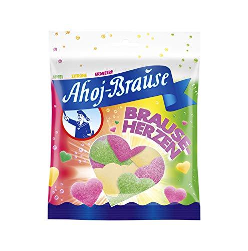 Frigeo Ahoj-Brause Herzen - Herrlich prickelnd-softe Gummibonbon-Herzen mit Brause ummantelt, 150 g