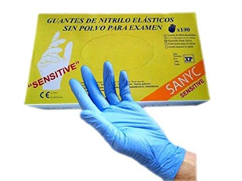 SANYC Guantes Nitrilo Sensitive Sin Polvo 100 Unidades Talla XP