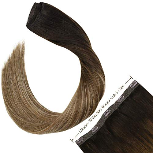 Ugeat 50GR Extensiones De Cabello Natural Clip Balayage 14