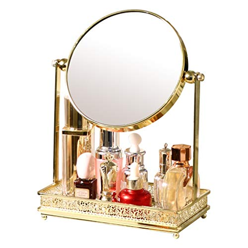 Lrxq European Style Dressing Tabletop Kosmetikspiegel Einfache Mode Desktop Princess Doppelseitige Kosmetikspiegel