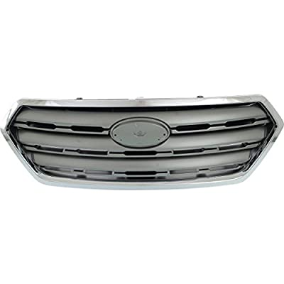 New Front Grille For 2015-2017 Subaru Outback Chrome/Silver SU1200159
