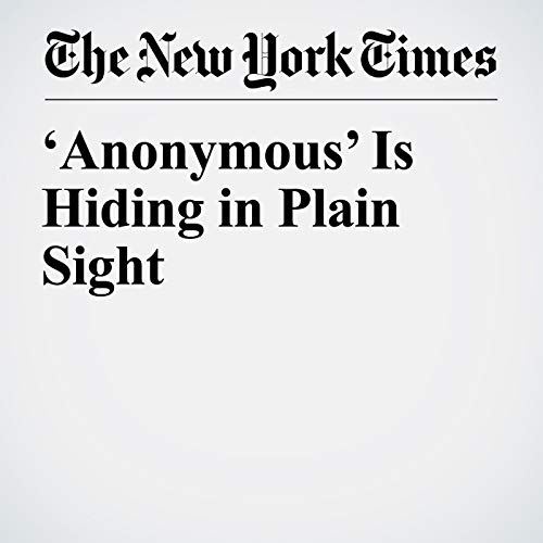 'Anonymous' Is Hiding in Plain Sight audiobook cover art