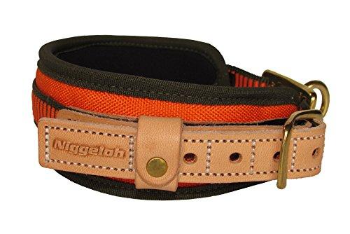 Niggeloh Hundehalsband Schweißhalsung, orange-oliv, XS, 011100020