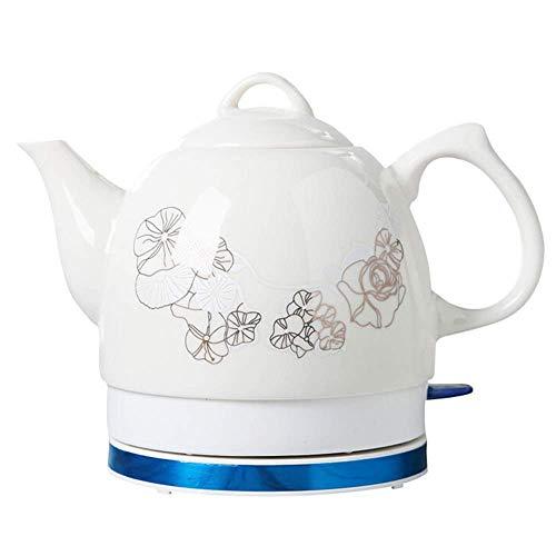 Hervidor de té inalámbrico de cerámica EleActric, 1.0L, 1000W Water Fast para té, café, Sopa, Base removible de Avena, protección para hervir en seco