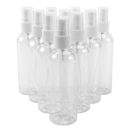 Hamimelon 10 Stück ×100ml Zerstäuber Sprühflasche Leer Durchsichtig Plastik Transparente Feinen Nebel Sprühflasche Reise Beauty- Parfümzerstäuber Flaschen Leerflasche Liquidflaschen