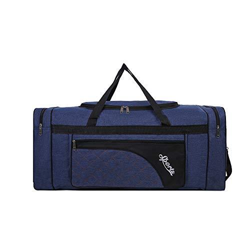 Sipobuy 80L Pliable Voyage Sac, Sport Gym Sac, Compartiment À Chaussures, Holdal, Léger Et Étanche, Grande Capacité, Unisexe (Blue)