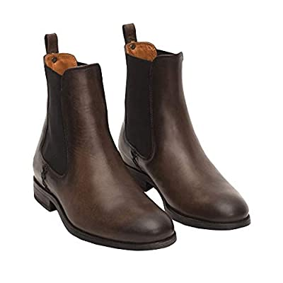 Ruanyu Womens Chelsea Ankle Boots Low Stacked H...