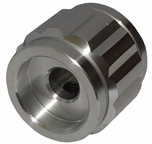 AERZETIX Bot/ón para potenci/ómetro de Eje Lisa 6.35mm /Ø22x19mm de Aluminio Color Plata C12582