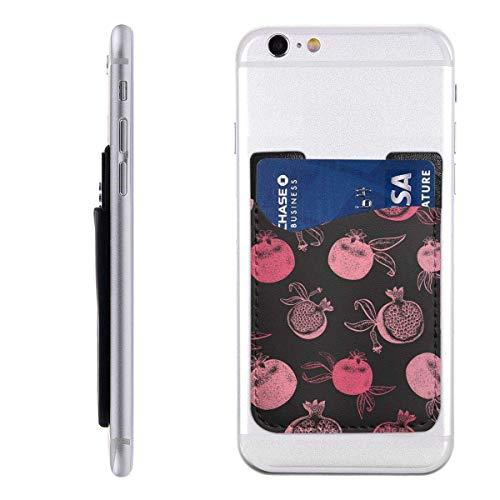 Gustave Tomlinson Granatapfel-Frucht Hand gezeichnete Handyhalter Rucksack Brieftasche, PU-Kleber Aufkleber ID Kreditkarte Brieftasche Handyhülle Tasche