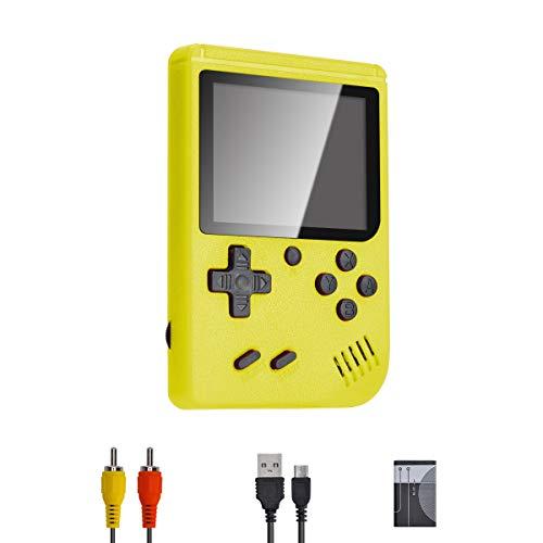 PASASABLE Mini Console di Gioco Portatile, Console di Gioco nostalgica Classica, Supporto Uscita Video TV, Adatta per Bambini Adulti (Giallo)