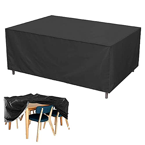 Topwonder Möbelskydd, fritidsområde matrumsstol oljetåligt tyglock, trädgårdsgrupp stol bord dammsäkert skyddshölje (200 x 160 x 70 cm)