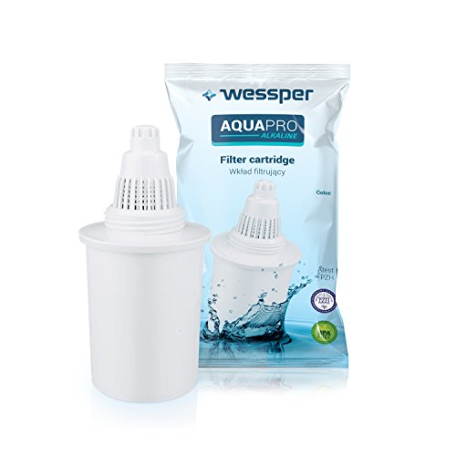 Wessper® Filtro de agua para jarra alcalina, compatible con Phox, Kinetic Water,...
