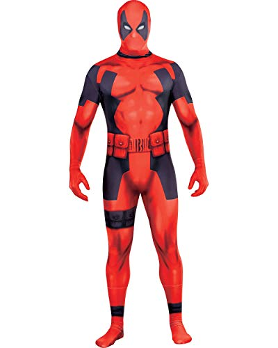 Costumes USA Deadpool Partysuit for Adults, Size Large, Includes a Spandex Partysuit with Double Zippers and Wraps