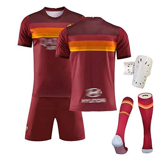 SFTG Fußballuniform-Set Nr. 9 Dzeko, Nr. 10 Totti-Trikotshorts, Fußballuniformen, Fan-Trikots, Herren-Fußball-Kurzarm-T-Shirts XXL D