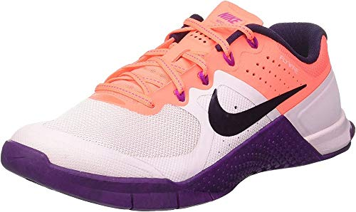 Nike Metcon 2, Scarpe Sportive Indoor Donna, Multicolore (Bleached Lilac/Bright Mango/Purple Dynasty), 40 EU