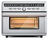Simoe Toaster Oven Air Fryer, 12 in 1 Convection Oven Combo, 26.4QT Digital Toaster Oven for Roast, Bake, Air Fry, Dehydrator, LCD Display Screen, 26.4 QT, 1800W